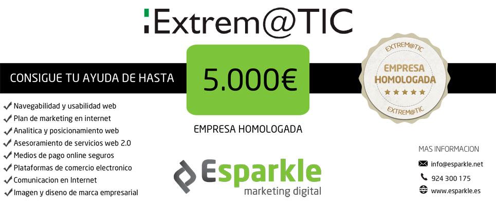 Cheques TIC Esparkle Extremadura